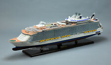 "MS Allure of the Seas Oasis-class Wooden Cruise Ship Model 40.5"" Scale 1:350"