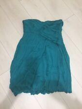 Zara Emerald Silk Strapless Dress L 12-14