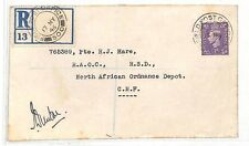 AT166 1945 GB Field Post Office Cover North African Ordnance Depot CMF PTS