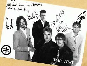 TAKE THAT - Autogramm Bild - Print Copie - Groß-Format 21x 15 + STAR AK SIGNIERT