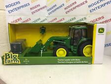 Britains Big Farm John Deere Tractor Loader With Bales 1:16 NEW 43237