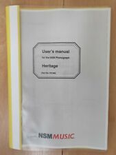 NSM Heritage ES 5.1 wallbox jukebox installation and user manual