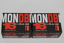 Lot of 2 Diamondback 16x1.75-2.125 Schrader Valve Bicycle Tubes - 39-32-112
