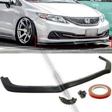 Fit 13-15 Honda Civic 4Dr Sedan GT Style Front Bumper Chin Lip Bodykit Spoiler
