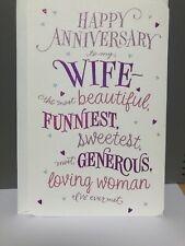 Happy Anniversary Beautiful Funny Sweet Loving Wife Greeting Card