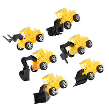 12pcs Cake Decor Lightweight Creative Premium Engineering Truck Toy for Birthday