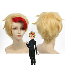 Minami Kenjiro Cosplay Wig Short Red Highlight in Gold hair for Halloween Party