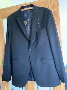 Ted Baker Mens Suit Jacket 42 L Black 100% Wool