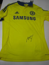 CHELSEA- DIDIER DROGBA HAND SIGNED CHELSEA YELLOW JERSEY+ PHOTO PROOF + C.O.A