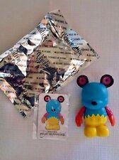 "DISNEY VINYLMATION~Urban 5~BLUE YELLOW GEARS BEAR Mickey 3"" Figurine~Disneyland"