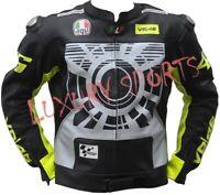 MOTORCYCLE MOTORBIKE COWHIDE LEATHER BIKERS RACING jacket