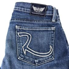 "Rock & Republic Kasandra Boot Cut Women's Blue Jeans Sz 29 Waist 34"" Inseam"