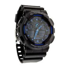 New CASIO Men's G-Shock Watch GA-100-1A2  Black Resin Watch Fashion