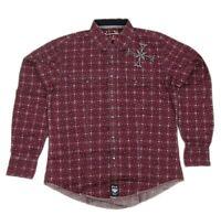 Mens NWT Wrangler Rock 47 Western Long Sleeve Shirt MRC143M Any Size M L XL