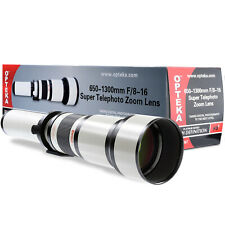 Opteka 650-1300mm Super Telephoto Zoom Lens For Pentax K Mount DSLR Cameras