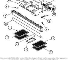 GRLPAL) JENN AIR BUILT IN MICROWAVE Plate, Cover (stl) 58001139