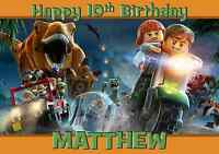 lego jurassic world personalised A5 birthday card son brother nephew name age
