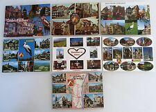 Elsass Alcace Lot 7x CPA Frankreich color Mehrbildkarten gelaufen & frankiert