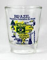 BRAZIL LANDMARKS AND ICONS COLLAGE SHOT GLASS SHOTGLASS