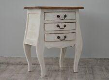 Petite Commode Bois Acajou Style Rustique Retro Vintage Blanc Ecru Patine Ancien