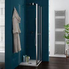 Box doccia 80x80 trasparente apertura saloon altezza 190 reversibile profilo alu