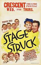 STAGE STRUCK Movie POSTER 27x40 B Gloria Swanson Lawrence Gray Gertrude Astor