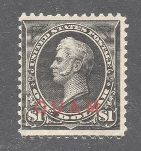 GUAM STAMP #12 — $1.00 PERRY - 1899 OVERPRINT -  UNUSED