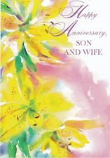 Anniversary Card with Envelope for Son & Wife