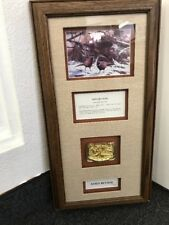 Pheasants Forever Winter Glow Gold Belt Buckle Rosemary Millette Framed