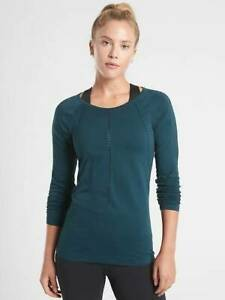 NEW ATHLETA LAGOON TEAL FOOTHILL LONG SLEEVE TOP SMALL