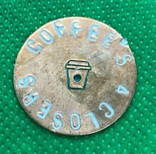 """Coffee's For Closers 1""""/1.25"""" Hand-Stamped Custom Copper Golf Ball Marker"""