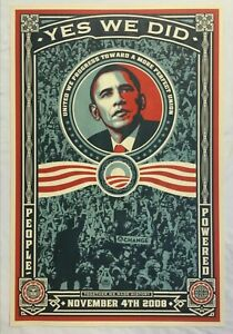 Shepard fairey obey signed Obama Yes We Did