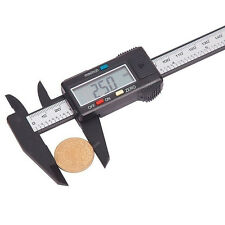 New Carbon Fiber Composite 6 inch 150mm Vernier Digital Electronic Caliper Ruler