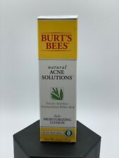 Burt's Bees Natural Acne Solutions Daily Moisturizing Lotion 98.9% Natural NEW
