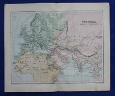 Original antique map WORLD AS KNOWN TO THE ANCIENTS, W. & A.K. Johnston, c.1864