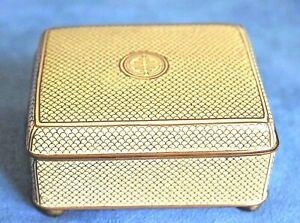 Art Deco Chinese Longevity Symbol Yellow Fish Scale Cloisonne Antique Table Box