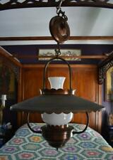 FABULOUS FARMHOUSE COPPER FINISHED HANGING OIL LAMP STYLED CEILING LIGHT FIXTURE
