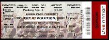 Linkin Park Ticket Rare Unused Projekt Revolution 2008 NE Dodge Music Center