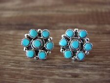 Zuni Indian Jewelry Sterling Silver Turquoise Earrings! Mary Leekity
