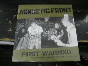 AGNOSTIC FRONT First Warning United Blood Era Recs NYC 1983 LP VINYL Record NEW