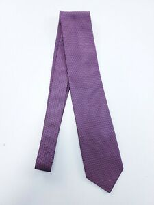 Thomas Pink Tie Pink & Navy Andrews Neat 100% Silk Made in The UK Lined NWT