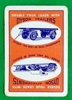 Playing Cards 1 Single Card Old Wide DYSON Truck Lorry TRAILERS Advertising