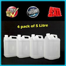 5L Jerry Can Plastic Water Carrier Storage Tank Container Food Grade Bottle 4pc