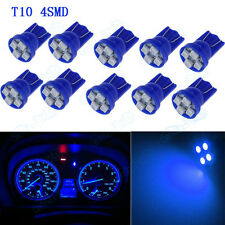 10pc T10 Blue LED Light Bulbs for Car Instrument Panel Speedo Odometer Gauges XB