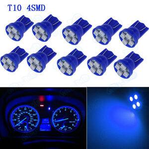 10pc T10 Blue LED Light Bulbs for Car Instrument Panel Speedo Odometer Gauges XB