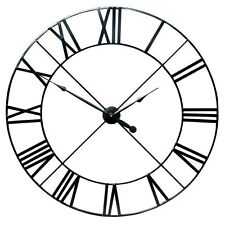 Extra Large 110cm Black Metal Roman Numeral Wall Clock Vintage Limited Stock