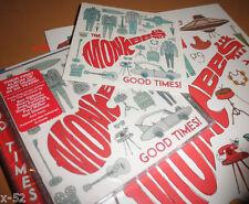 THE MONKEES GOOD TIMES CD + BONUS COLORING BOOK + LOGO promo STICKER