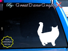 Persian Cat -Vinyl Decal Sticker -Color -High Quality