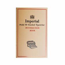 More details for typewriter instruction manual book imperial model 50 55 60 65 66 desktop + more