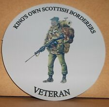King's Own Scottish Borderers vinyl sticker personalised free..